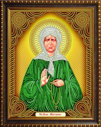 Алмазная мозаика частичная 27x33 Икона Святая Матрона