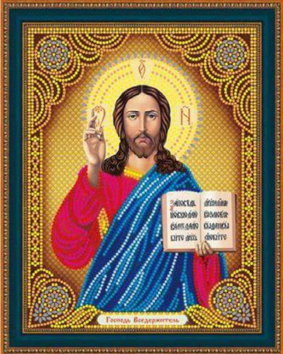 Алмазная мозаика частичная 27x33 Икона Господь вседержитель